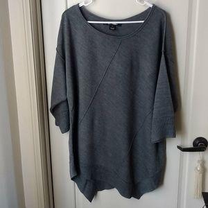 89th & Madison Charcoal Dark Gray Sweater 1X